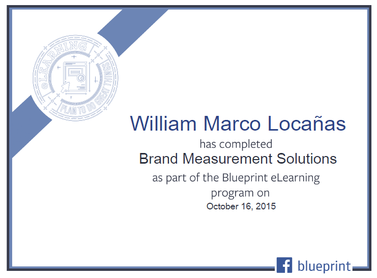 Facebook Blueprint eLearning Program